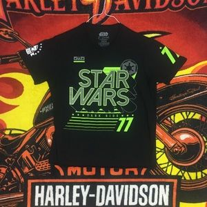 Star Wars Dark Side 77 Tee Shirt Spell Out SW